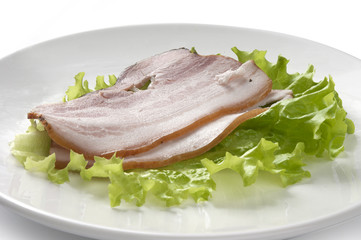 Bacon and lettuce