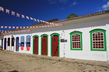 Maisons colorées à Paraty - Brésil