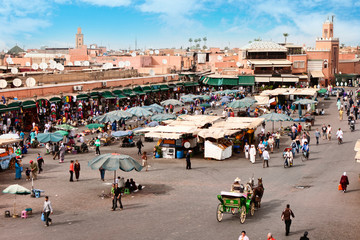 Djemaa el Fna - square in Marrakesh