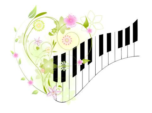 piano fleuri