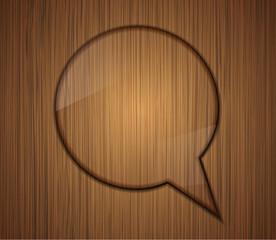 wooden bubble speech. Business background design