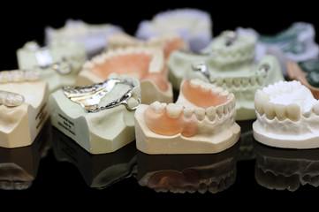 Collection of dental partials