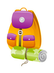 vector icon back pack