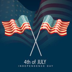 vector 4th of july america flag