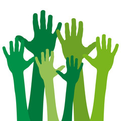 Green hands # Vector