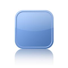 Blue square web button