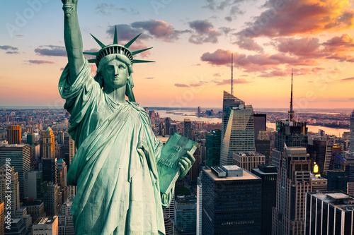 Fototapete New York statue de la Liberté