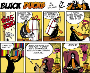Fotorolgordijn Comics Black Ducks Comics episode 74