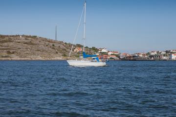 Sail boat on swedish west coast