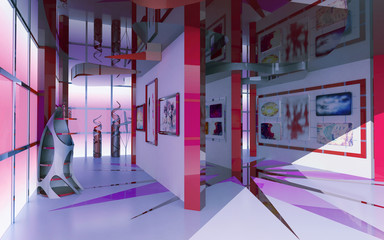 Modern interior exhibition hall