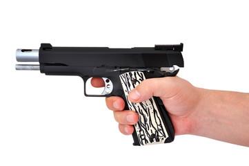handgun in hand