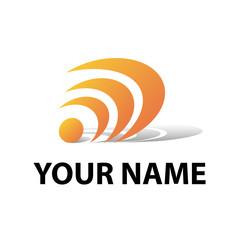 Logo communications company # Vector