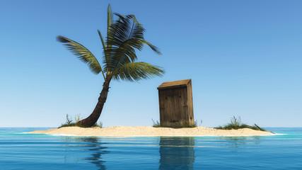 kleine Insel mit WC