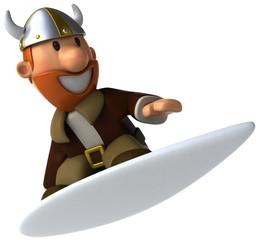 Viking surfing