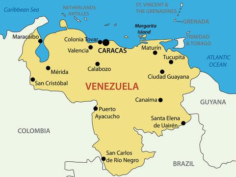 Bolivarian Republic of Venezuela - vector map