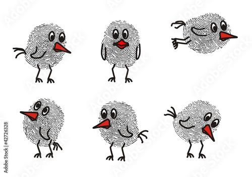 Fingerabdruck Vogel Stockfotos Und Lizenzfreie Vektoren Auf Fotolia