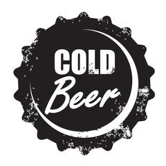 vector beer stamp