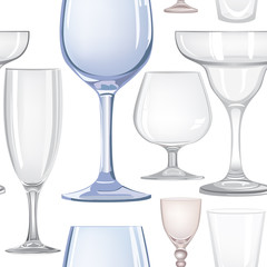 seamless pattern with wine glasses