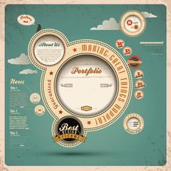 Vintage Web Design.