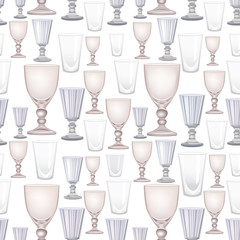 seamless pattern with wine glasses, Print