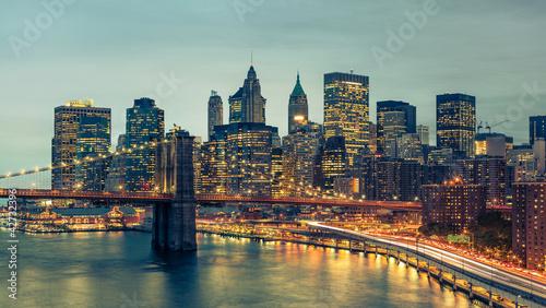 Fototapete New York Manhattan Pont de Brooklyn
