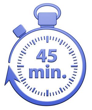 45 Minutes Chrono - Bleu