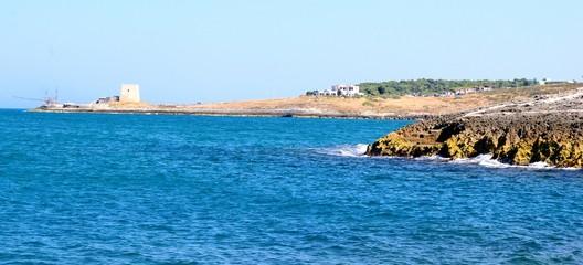 Un paesaggio della costa del Gargano - Peschici (FG)