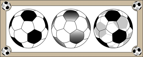 Traditional Soccerball Illustration