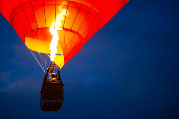Canvas Prints Balloon Aerostat at night