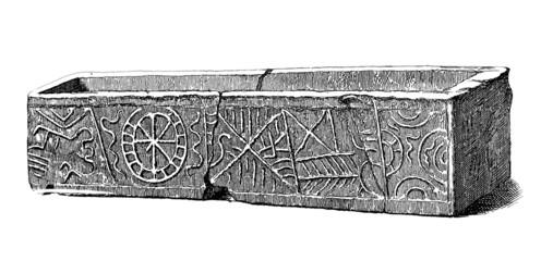 Merovingian Sarcophagus - 8th-9th century