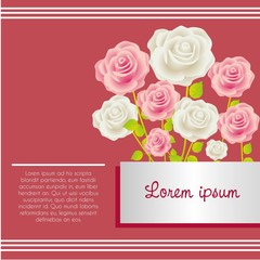 Card with colorful roses