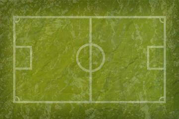 Soccer football on grass paper field