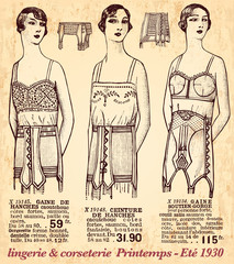 Wall Mural - lingerie & corseterie