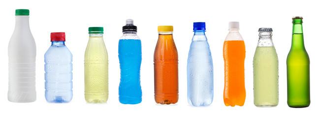 Fototapeta set with different bottles obraz