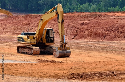 Heavy equipment at road construction site quot stock photo and royalty