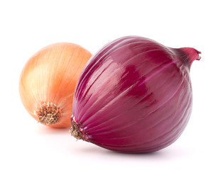 Red and gold onion bulbs