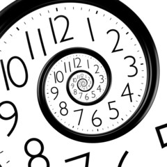 infinity time spiral clock
