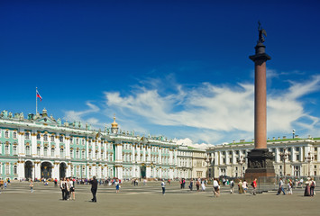Winter Palace and Alexander Column on Palace Square