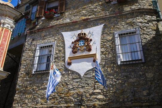 """""""Seborga"""" government house facade color image"""