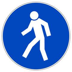 Schild - Für Fußgänger