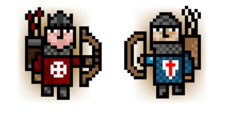 medieval pixel archers