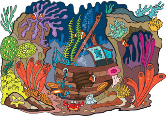 Poster Submarine Sea coral