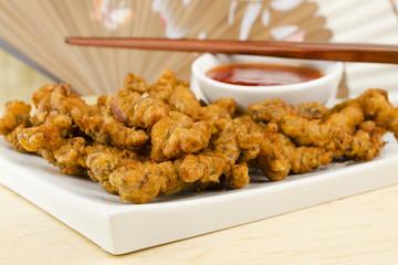 Oriental Deep Fried Crispy Beef & Sweet Chilli Sauce Dip