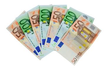 banknotes 50 and 100 euro