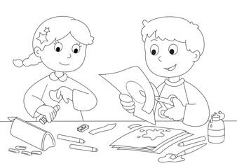 Immagini Di Bambini Che Giocano Da Colorare Stampae Colorare