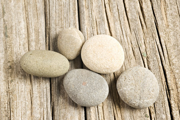 Stone and wooden background