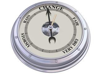 Barometer indicating change