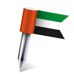 Vector United Arab Emirates flag isolated on white. Eps 10