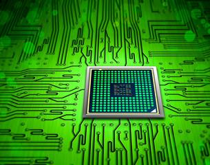Fototapete - microchip