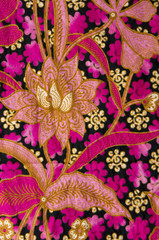beautiful of batik with floral patterns